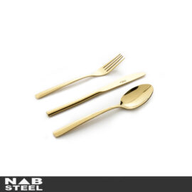 سرویس قاشق و چنگال طلایی ناب استیل مدل  Felorance 57