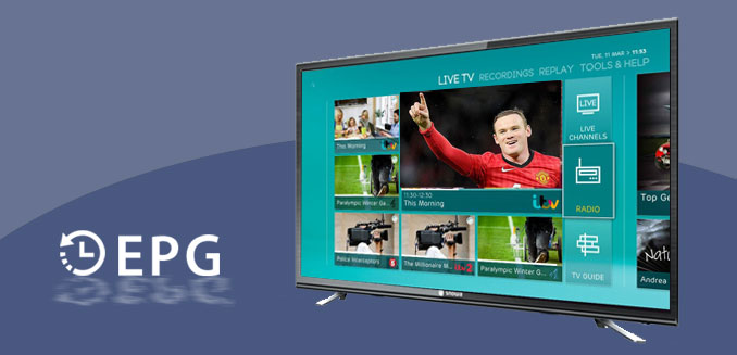 تلویزیون ال ای دی اسنوا 43 اینچ مدل SLD-43SA1260 - سیستم اطلاع رسانی برنامه ها در تلویزیون