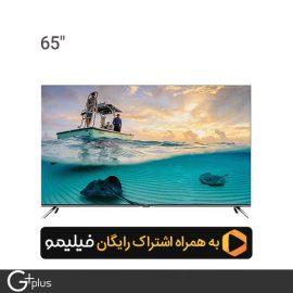 تلویزیون ال ای دی هوشمند جی پلاس 65 اینچ مدل GTV-65LU722S