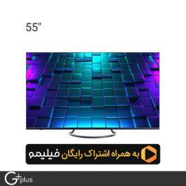 تلویزیون ال ای دی هوشمند جی پلاس 55 اینچ مدل GTV-55LU821S
