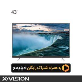 تلویزیون هوشمند ایکس ویژن مدل 43XT745